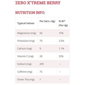 High5 Electrolyte Sports Drink Zero X'treme Tabs 20 Stück Red Fruits